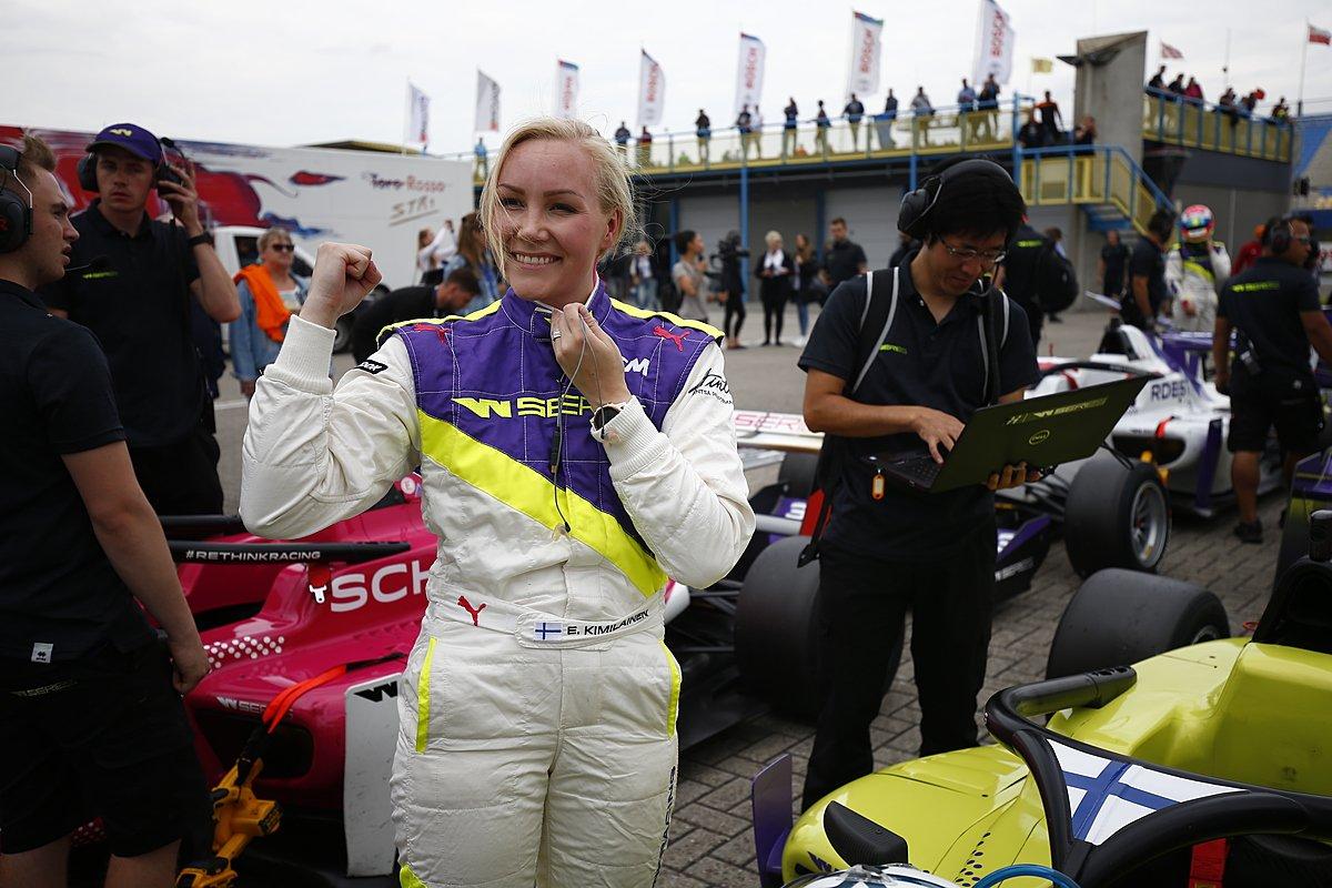 Эмма Кимиляйнен после квалификации в Ассене