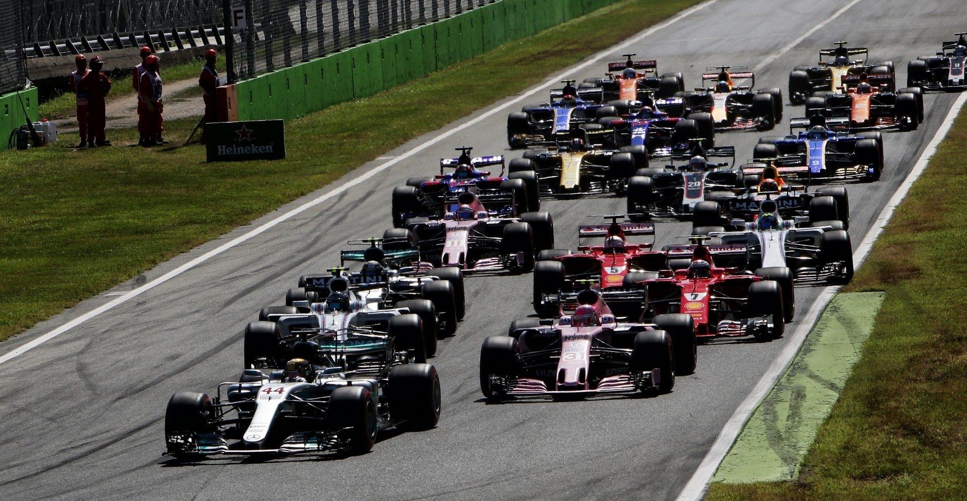 Старт Гран-при Италии 2018 года