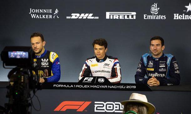 """Ник де Врис: Надеюсь, гонка будет не такая драматичная, как этап """"Формулы-1"""" в Германии. Пресс-конференция по итогам квалификации Ф2 в Венгрии"""