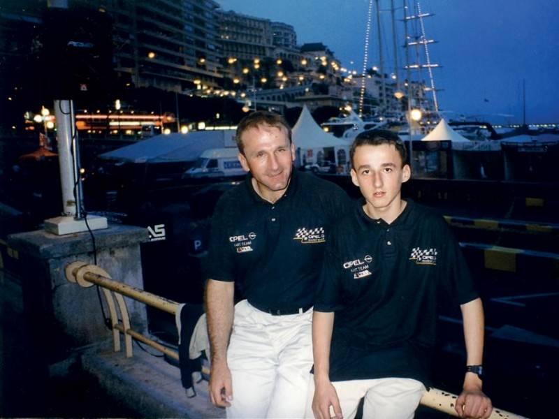 Роберт Кубица с отцом