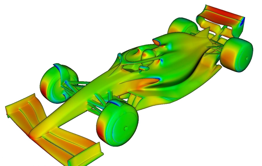 Проект автомобиля Ф1 2021 года