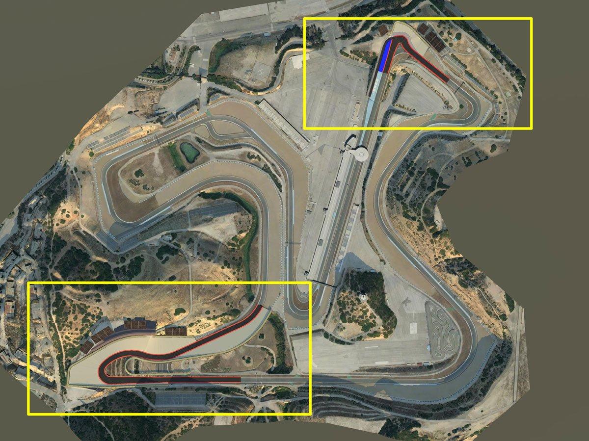 Предлагаемая модернизация трассы в Хересе