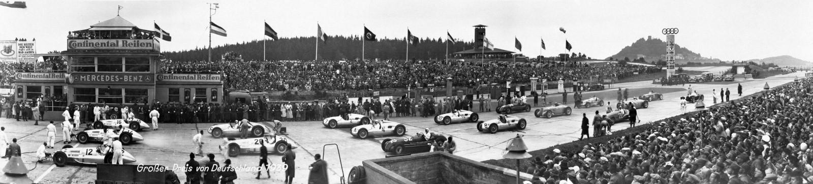 Панорама стартового поля Гран-при Германии 1939 года