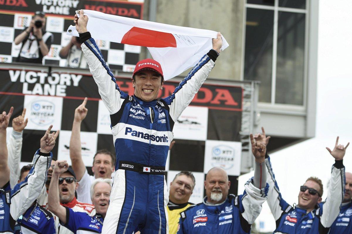 Такума Сато после победы в Алабаме