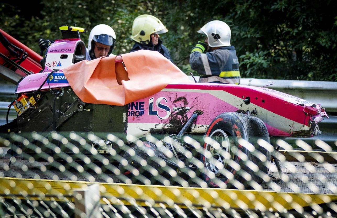 Автомобиль Юбера после аварии в Спа