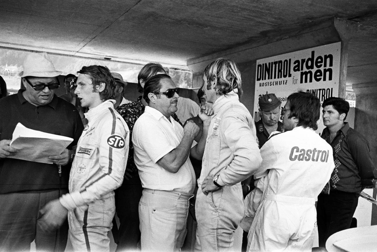 Ники Лауда и Гельмут Марко на БП Австрии 1971 года