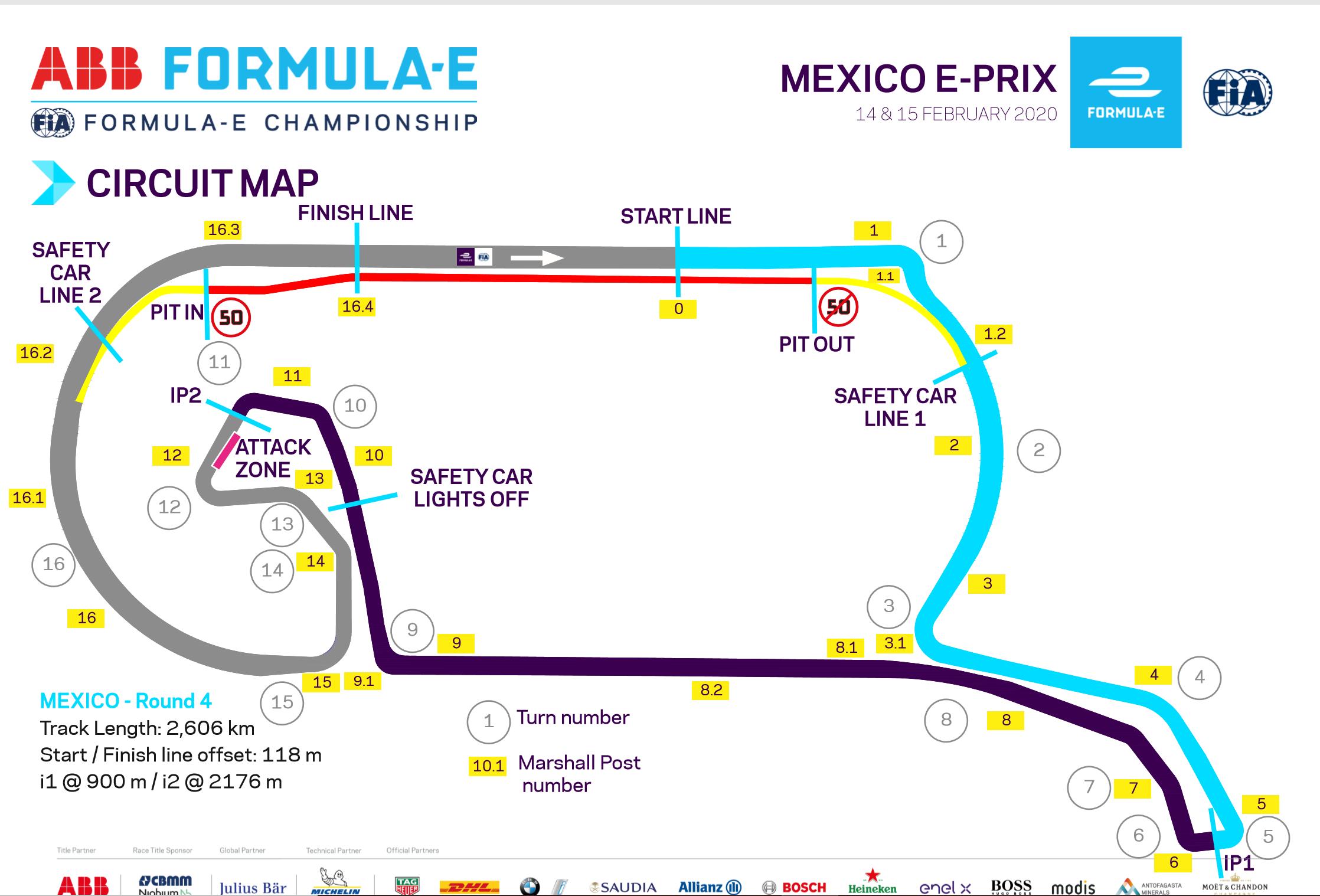 """Новая конфигурация трассы """"Формуле-Е"""" в Мексике"""