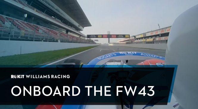 Первый круг FW43 по трассе Барселоны