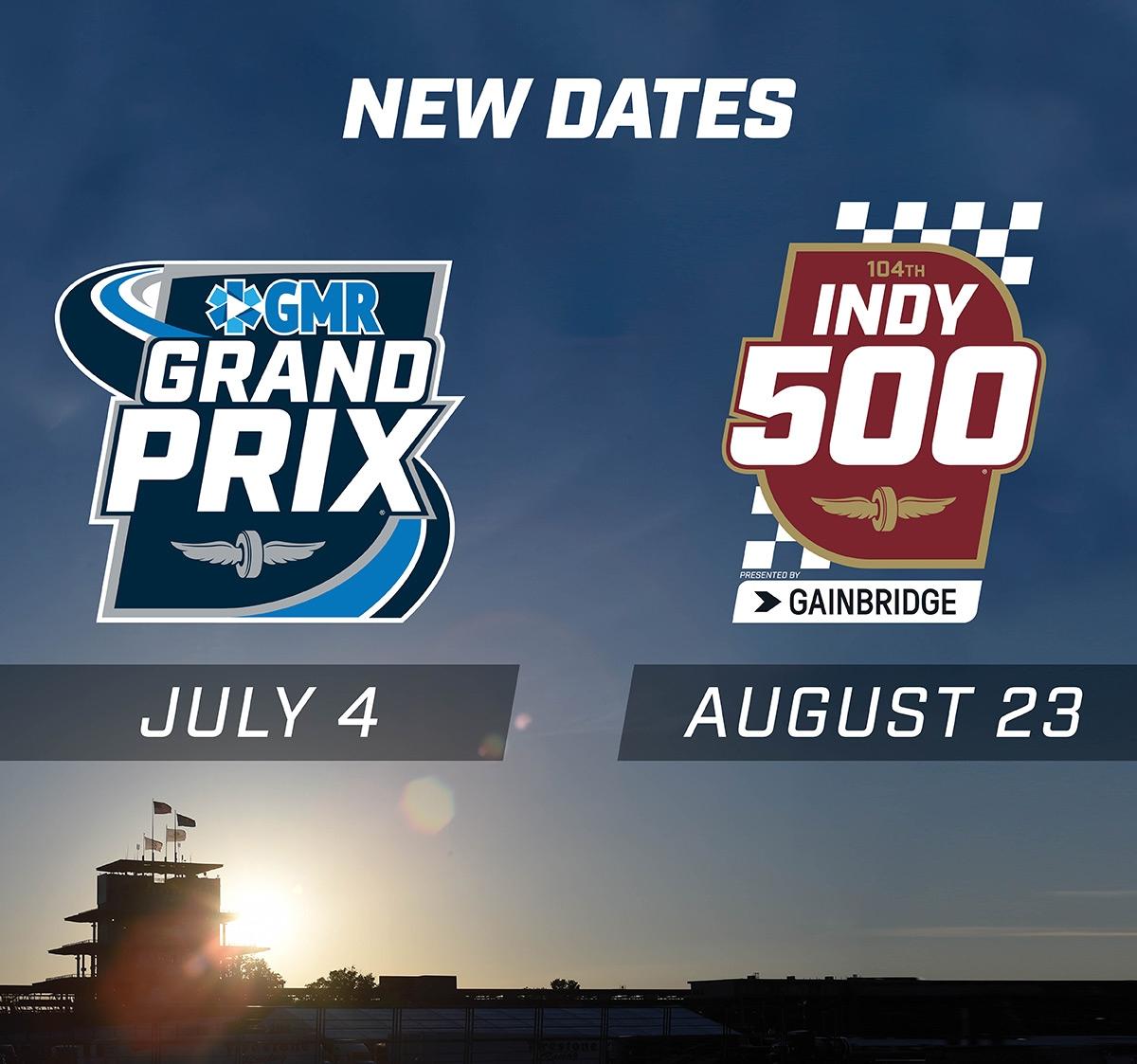 Новые даты гонок в Индианаполисе