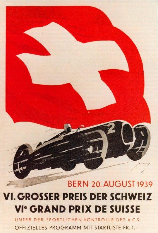 Программка БП Швейцарии 1939 года