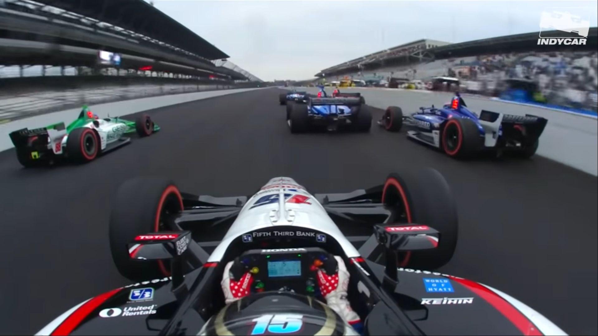 Онборд старта Гран-при Индианаполиса