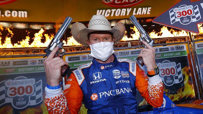 Скотт Диксон после победы в Техасе