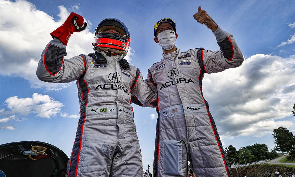 Элиу Каструневис и Рики Тэйлор после победы в 6-часовой гонке