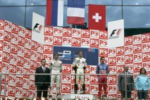 Подиум спринтерской гонки ГП2 в Турции в 2008-м