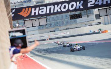 Финиш 4-й гонки первого этапа арабской Ф4