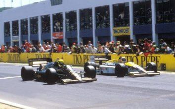 Финиш Гран-при Испании 1986 года