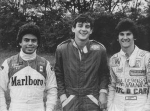 Альфонсо Толедано, Айртон Сенна и Энрике Мансилла в 1981 году