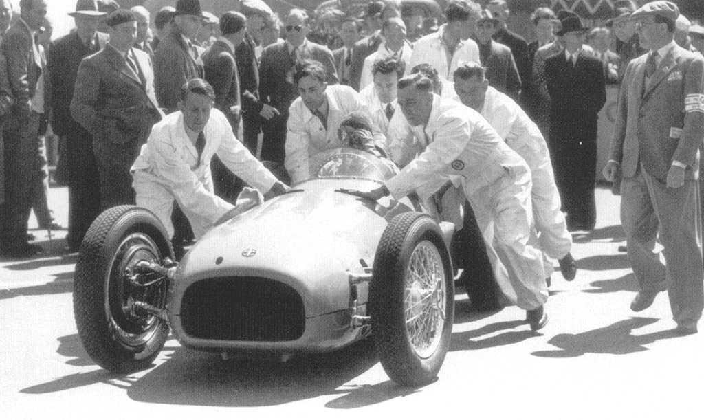 Демонстрация автомобиля БРМ во время БП Европы 1950 года
